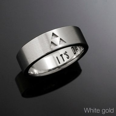 Custom Made 14kt Gold Triforce Band