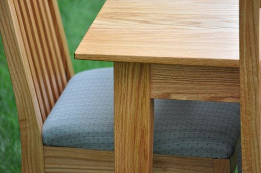Custom Made Red Oak Dining Set