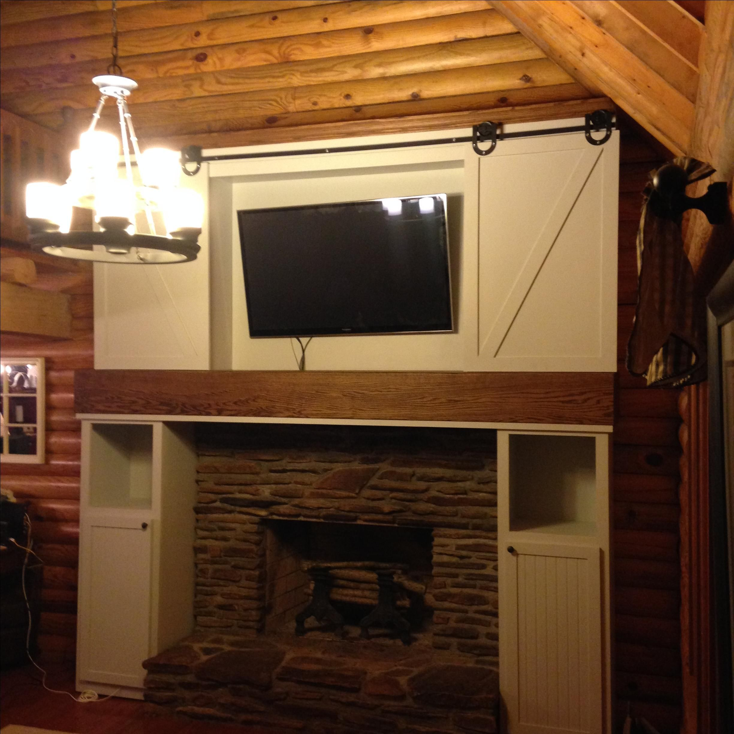 Hand Made Craftsman Style Built In Fireplace Surround By