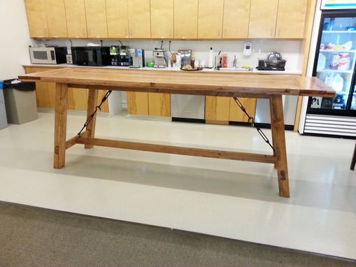 Custom Made Bar Height Harvest Table