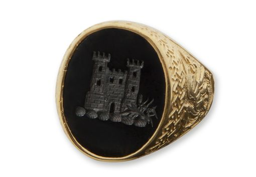 Custom Made Welsh Castle Custom Heraldic,Ring