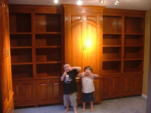 Custom Made Cherry Library & Built Ins