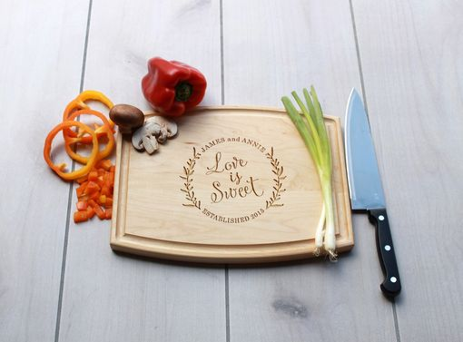 Custom Made Personalized Cutting Board, Engraved Cutting Board, Custom Wedding Gift – Cba-Map-Jamesannie