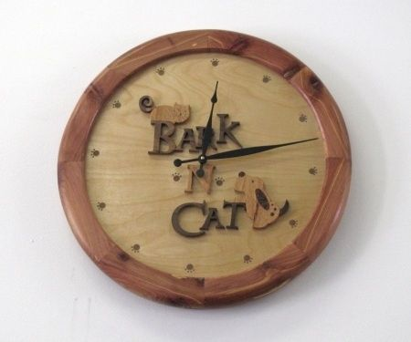 Custom Made Bark'n'Cat Store Clock