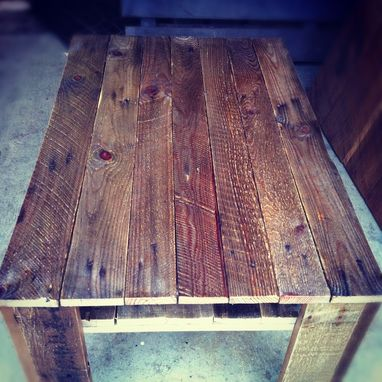 Custom Made Weathered Plank Coffee Table