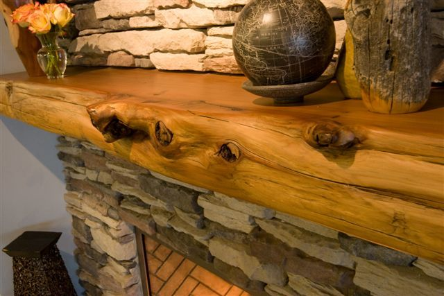 Buy A Hand Crafted Lovely Cedar Fireplace Mantel Made To Order From