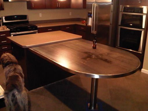 Custom Made Custom Table Base For Marble Or Granite Top