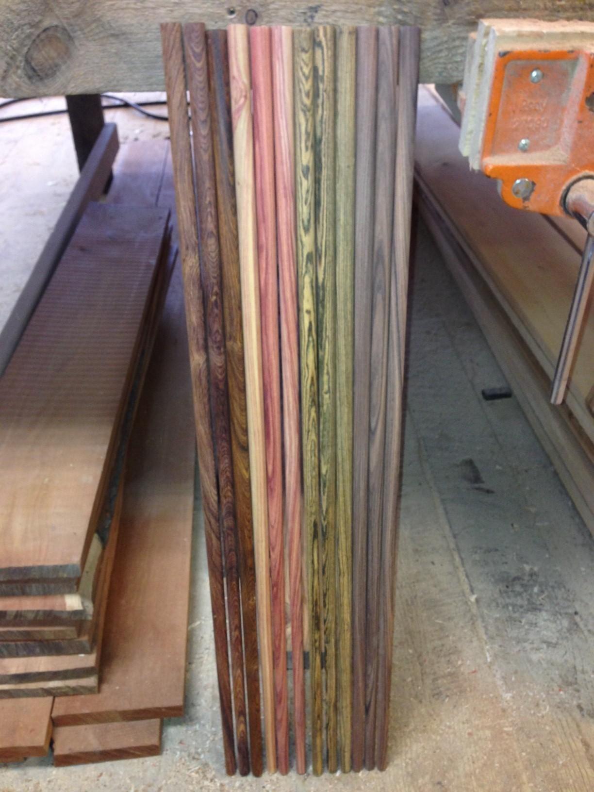 Custom Exotic Wood Walking Stick Blanks By Ore Dock Design