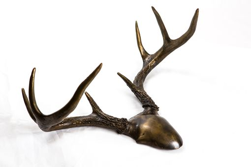Custom Made Bronze Antlers