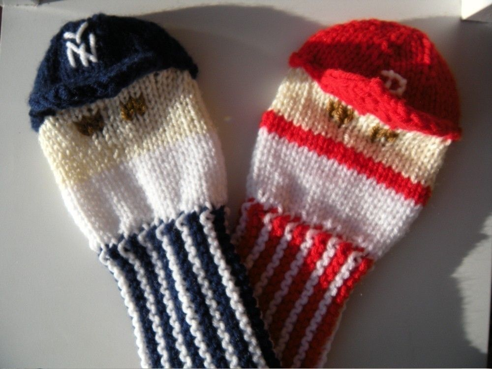 Hand Made Knit Pattern Baseball Player Golf Club Cover Pdf By Tracey