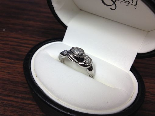 Custom Made Palladium And White Gold Columbine Engagement And Wedding Set