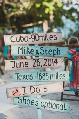 Custom Made Directional Wedding Sign