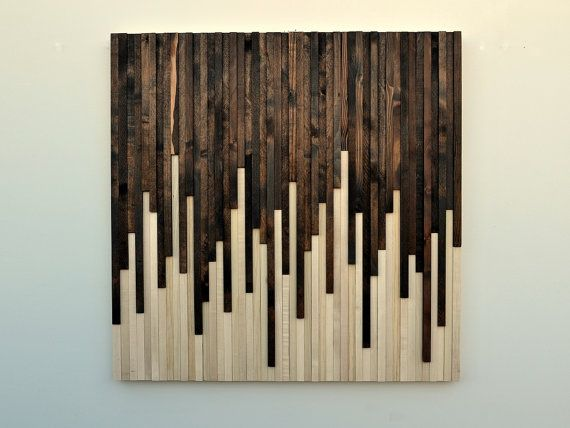 Custom Made Wood Wall Art Reclaimed Sculpture