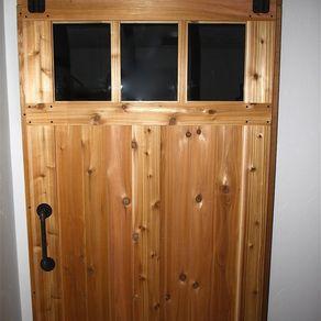 Custom Cedar Sliding Barn Doors