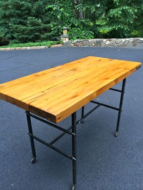 Custom Made Rustic Dining Or Bar Table