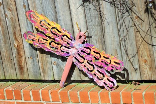 Custom Made Outdoor Metal Dragonfly Sculpture Interior Wall Art Wallhanger
