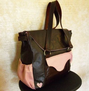 Custom Made Leather Diaper Bags