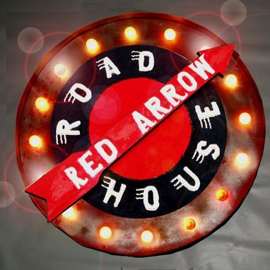 Custom Made Marquee Letter Lights Sign Asbury Park New Jersey Arrow Or Any Symbol 36 X36x 4