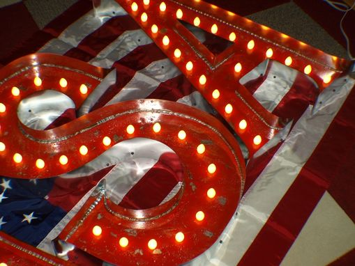 Custom Made Vintage Marquee Letter Usa By Aranacci
