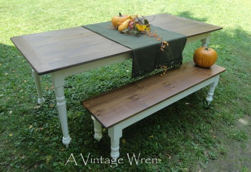 Custom Made Farm Table/ Farmhouse Table/ Harvest Table/ Rustic Dining Table/ Custom Made In New Hampshire