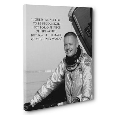 Custom Made Daily Work Neil Armstrong Motivation Quote Canvas Wall Art