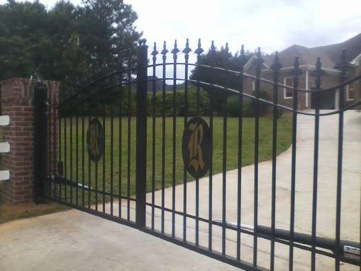 Custom Made Wrought Iron Driveway Gates