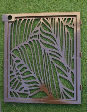 Custom Made Artistic Steel Gate - Steel Panel Art - Banana Leaf - Decorative Steel Panel