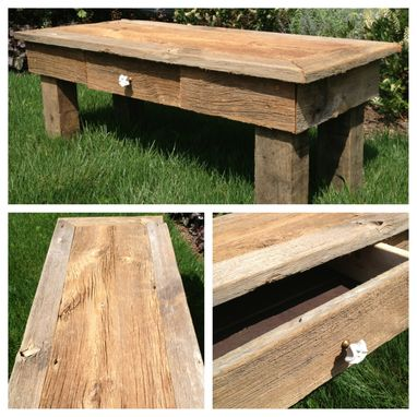 Custom Made Barn Wood Coffee Table
