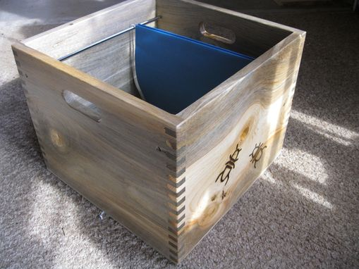 Custom Made Beetlekill Pine Finger Joint File Box