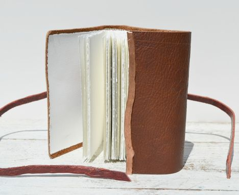 Custom Made Handmade Leather Bound Travel Adventure Journal Diary Western Ledger
