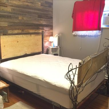 Custom Made Beatlekill Pine And Steel Bed