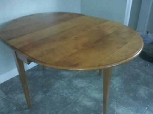 Custom Made Cherry Drop Leaf Table