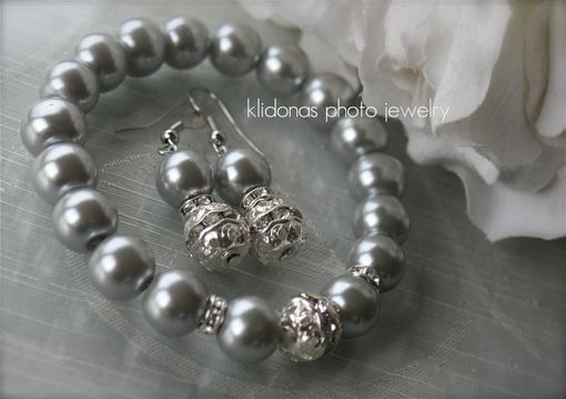 Custom Made Bridesmaid Gift, Bridesmaid Jewelry Set, Bridesmaids Bracelet And Earring Set