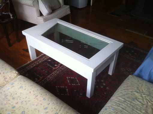 Custom Made Airplane Windshield Glass Coffee Table