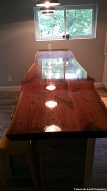 Custom Made Custom 11 Foot Long Live Edge Walnut Bar Top