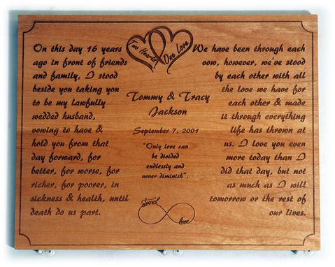 Custom Made Anniversary Remembrance