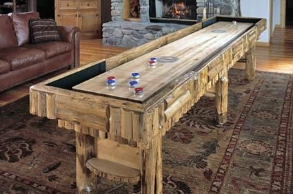 Hand Crafted Shuffleboard Table By Drawknife Custom Billiard Tables - Standard shuffleboard table