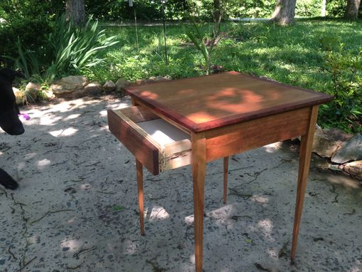 Custom Made Mid Century, Cherry End Table With Drawer