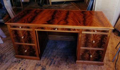 Custom Made Crotch Mahogany Desk