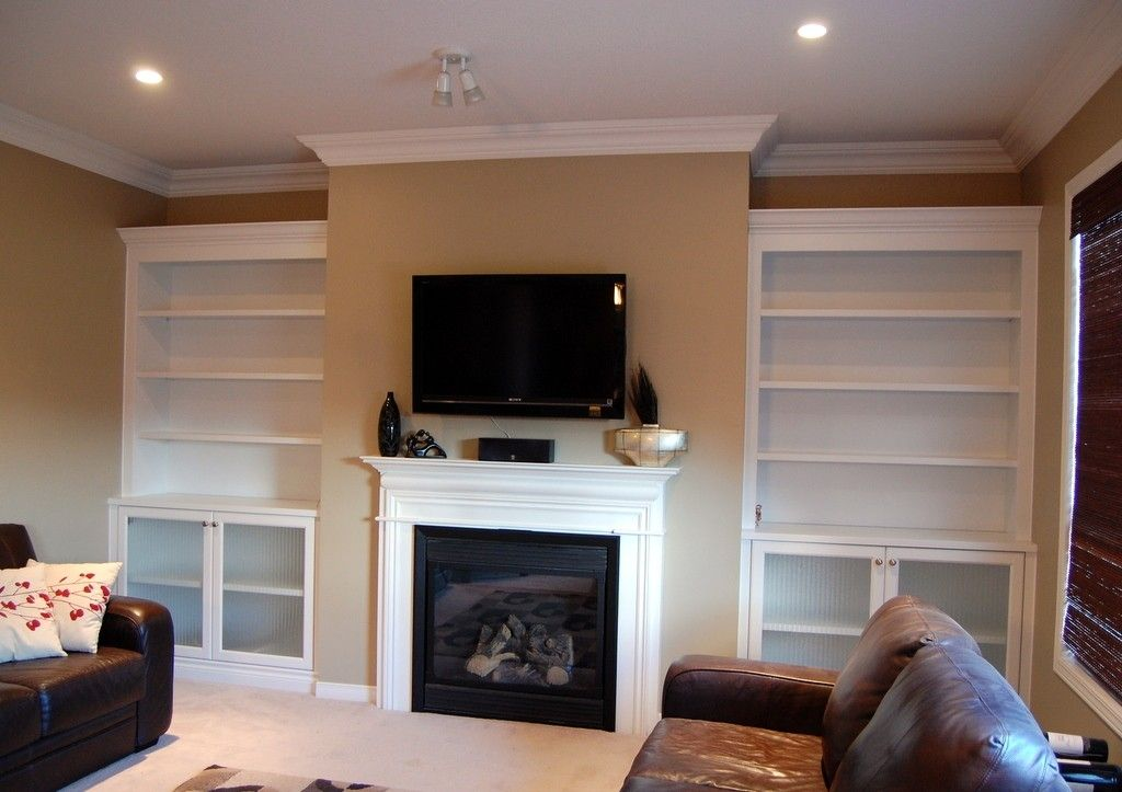 Custom Built In White Bookcases By Cabinet Effects Custommade Com