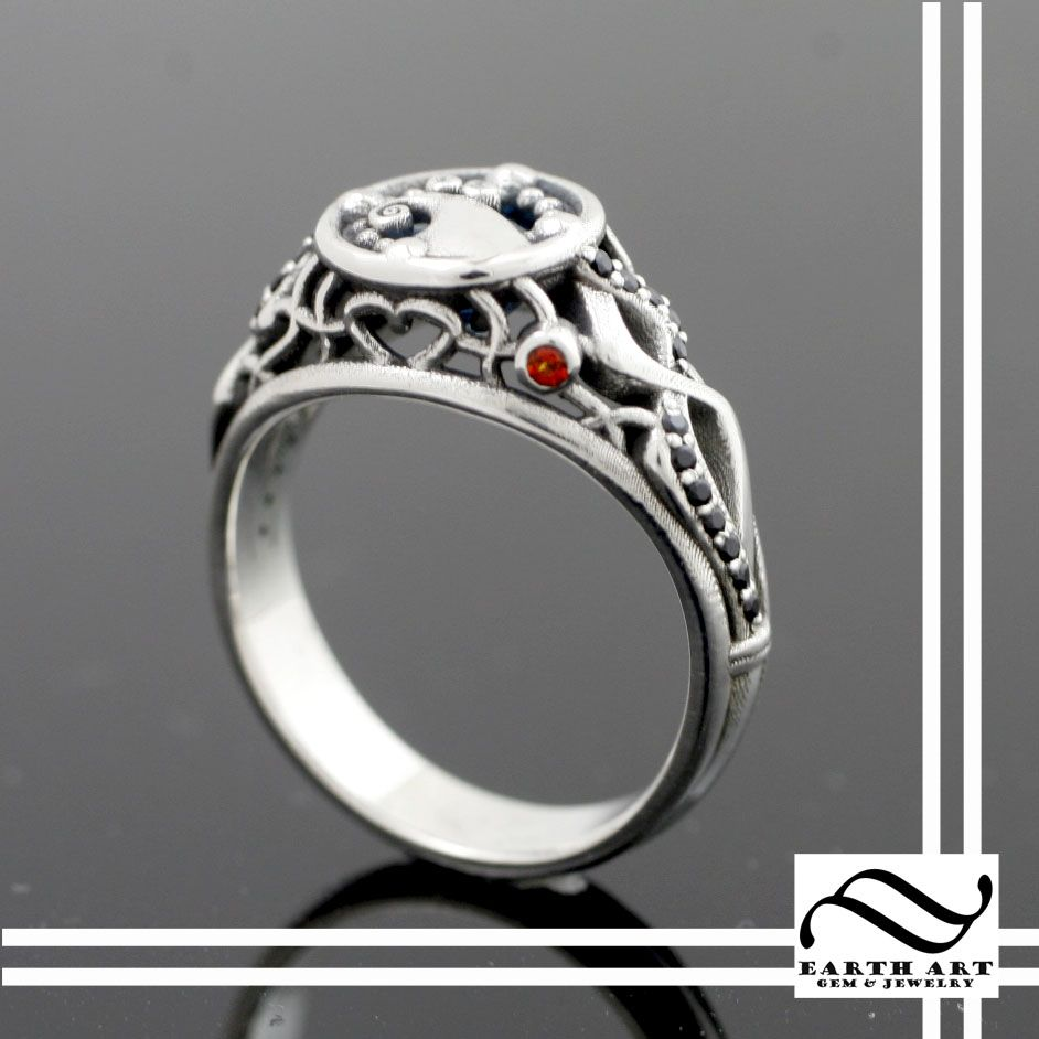 Buy a Hand Made When Jack Met Sally - Nightmare Engagement Ring ...