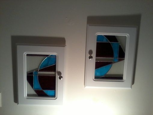 Custom Made Repurposed Stained Glass Cabinet Doors By Ibg