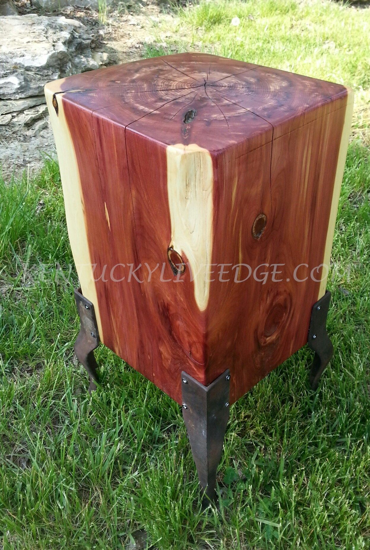 Buy a Hand Made Geometric Side Table Cube Table Log Table