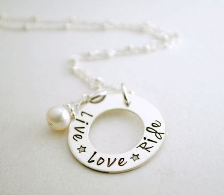 Custom Made Stamped Cowgirl Western Jewelry Live Love Ride