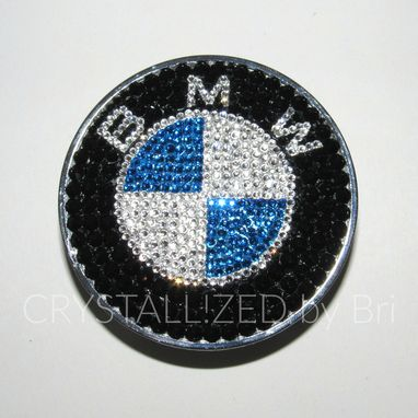 Custom Made Crystallized Car Wheel Center Caps Bling Made With Swarovski Crystals - Bmw Ready To Ship