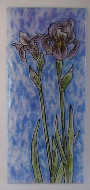 Custom Made Iris Intensity - Glass Fusing Artwork