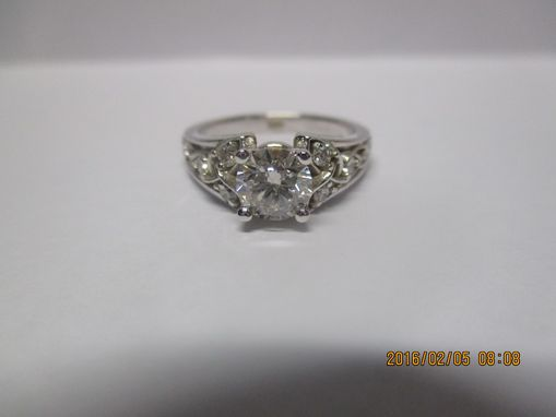 Custom Made Celtic Trinity Engagement Ring 1.11 Carat Total Weight