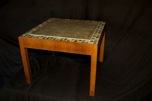 Custom Made Cherry Wood Retro Table