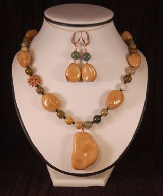 Custom Made Comfort Rocks Necklace & Earrings Set