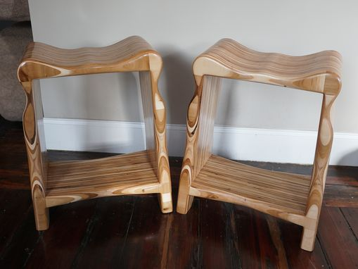 Custom Made Curvy Plywood Stools